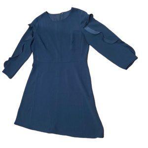 LOFT Navy Blue Long Sleeve Dress sz L